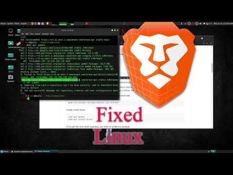 How to fix Error and install Bave Browser on Linux Debian base machine