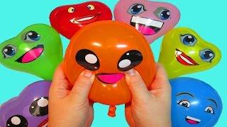 Учим цвета Развивающее видео для детей Лопаем воздушные шарики с водой Поем песенку на русском