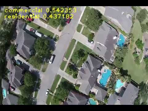 Land Features Detection on Drone Video with Deep Learning