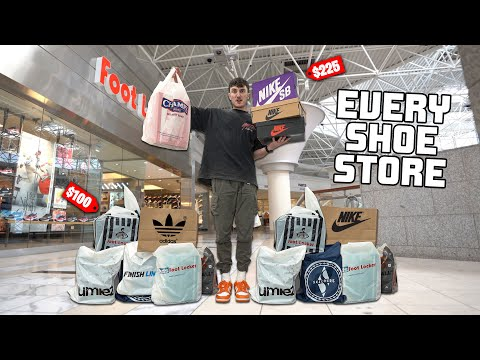 Buying A Sneaker At EVERY Shoe Store In The MALL!