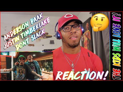 KIDS WILL LOVE IT! | Anderson .Paak, Justin Timberlake - Don't Slack (Official Video) | REACTION!