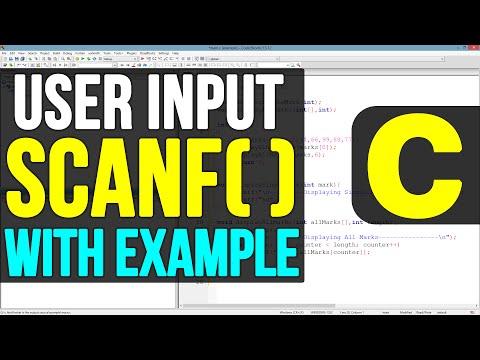 Scanf() Function In C Programming Language Video Tutorial