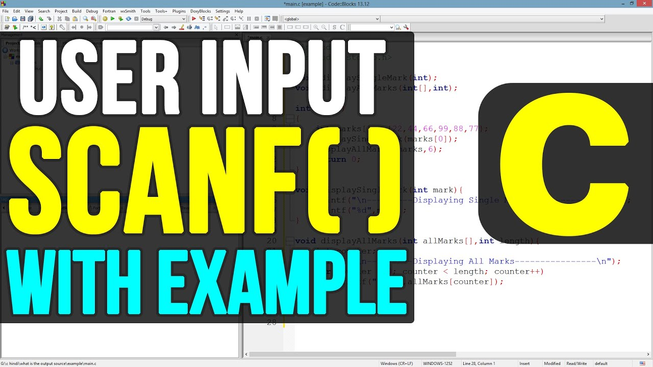C Programming 11 - Using scanf() function
