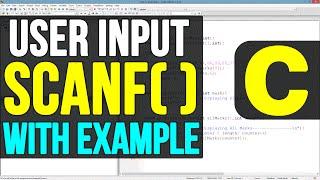 Scanf() Function in C Programming Language Video Tutorials