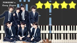 BTS (방탄소년단) - Make It Right (feat. Ed Sheeran) 《MINIBINI EASY PIANO ♪》 ★★★★★