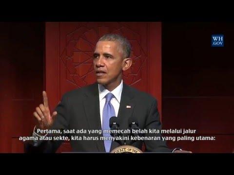 Pidato Lengkap Presiden Obama di Islamic Society of Baltimore