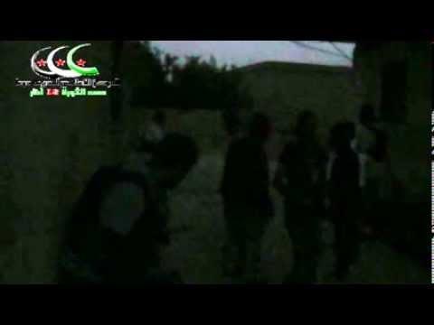 أشتباكات عنيفة بين الحر وعصابات النظام حاجزالمؤسسة درعا