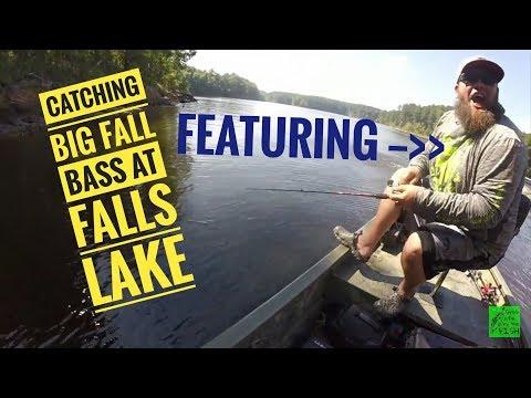 Catching big fall bass on  Falls Lake with Freshwater Massacre!!