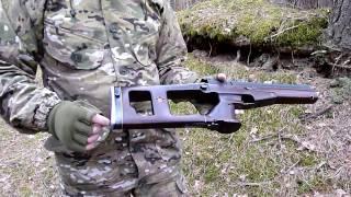 Доберман как пистолет и карабин с ореховым ложе