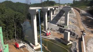Video still for 248 HSL & 248 H5 Bridge Beam Placement in Phil Campbell, Ala.