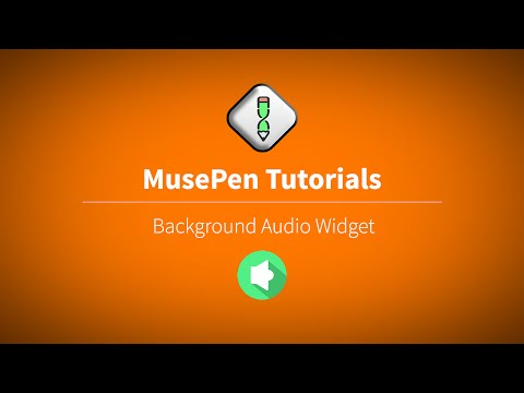 MusePencom : How to Add Background Audio in a page Created in Adobe Muse