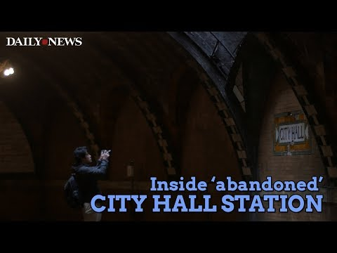 Inside the 'abandoned' Old City Hall subway station