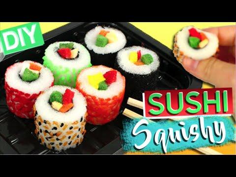 SUSHI matschig DIY * Wie man Sushi-SQUISHIES machen kann
