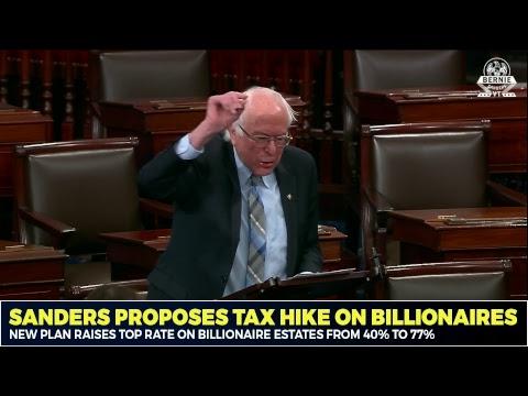 Sanders Proposes Tax Hike on Billionaires