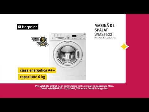 Reclamă ALTEX Mașină de spălat Hotpoint Mai 2015