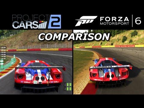 Project Cars 2 vs. Forza Motorsport 6 COMPARISON (graphics, sound, cameras...)
