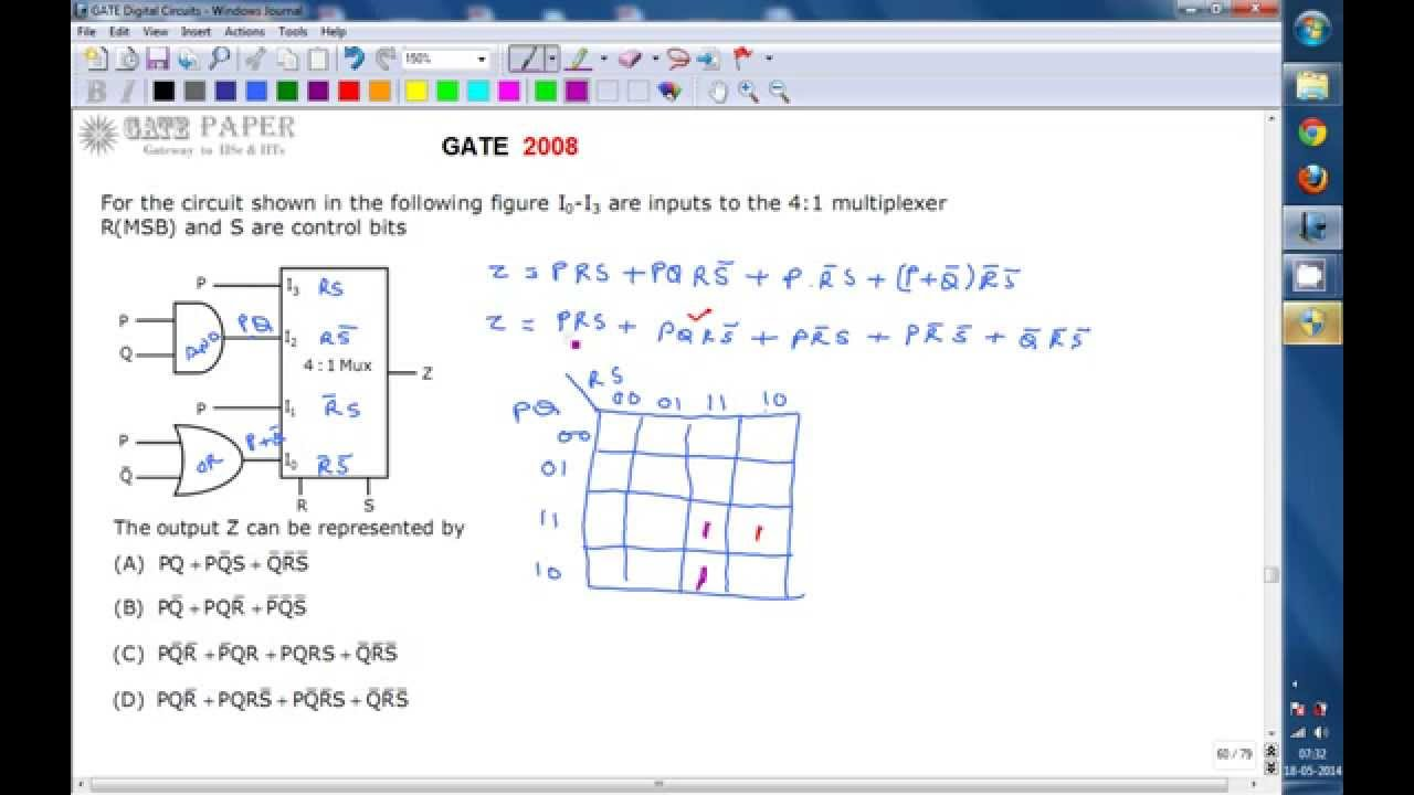 Multiplexer Circuit With Logic Gate