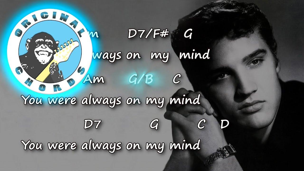 Elvis Presley Always On My Mind Chords Lyrics Youtube