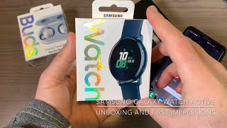 Samsung Galaxy Watch Active: Unboxing and First Impressions