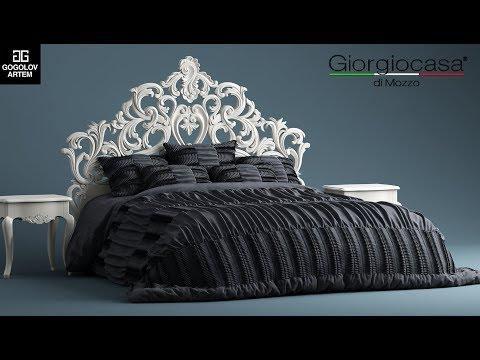 """№18. Bed Simulation """"Giorgio Casa MEMORIE VENEZIANE"""" в 3d Max и Marvelous Designer"""