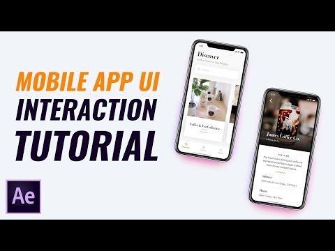 Mobile App UI Interaction Design/Animation Tutorial in After