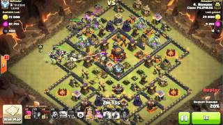 Clash of Clans Common TH10 layout - 3 starred (Clan Wars)