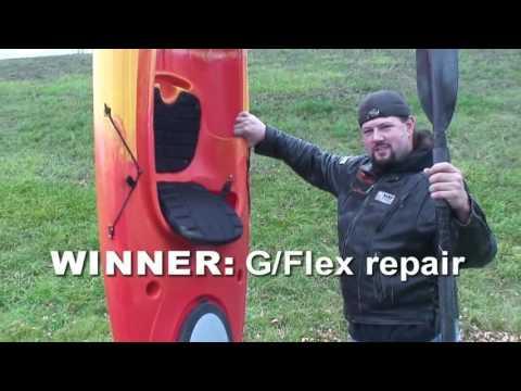 WEST SYSTEM® G/flex epoxy for plastic Kayak repair