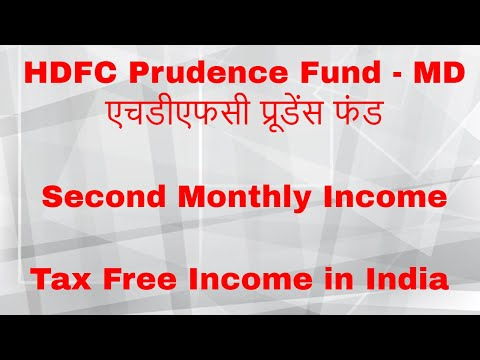 HDFC Prudence Fund - MD | Second Monthly Income | Tax Free M