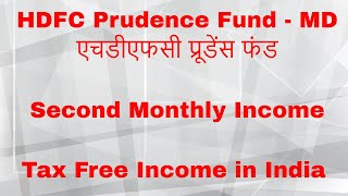 HDFC Balanced Advantage Fund - MD | Second Monthly Income | Tax Free Monthly Income in India