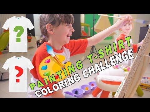 ON PEINT NOS T-SHIRTS • PAINTING T-SHIRT COLORING CHALLENGE - Studio Bubble Tea