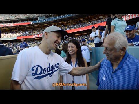 GGG meets Tommy Lasorda at Dodger game!