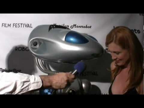 Deborah Twiss dances with the robot