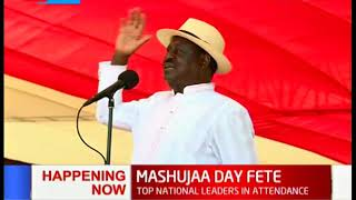 Raila Odinga remembers Kenyan heroes during Mashujaa Day