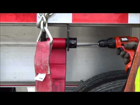 Trucking 101 - Roll Up Straps On A Flatbed With A Drill And Allen Key
