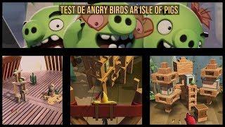 Test de Angry birds AR Isle of pigs