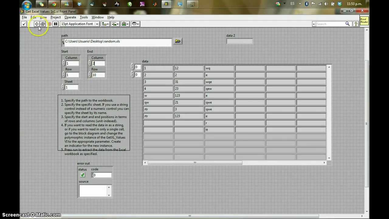 Excel To Labview Youtube