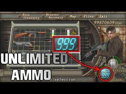 Resident Evil 4 How To Get Any Weapon Infinite Ammo Cheat