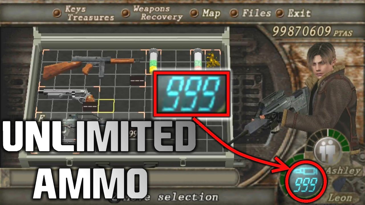 <b>Resident Evil 4</b> How To Get Any Weapon + Infinite Ammo | <b>CHEAT</b> ...