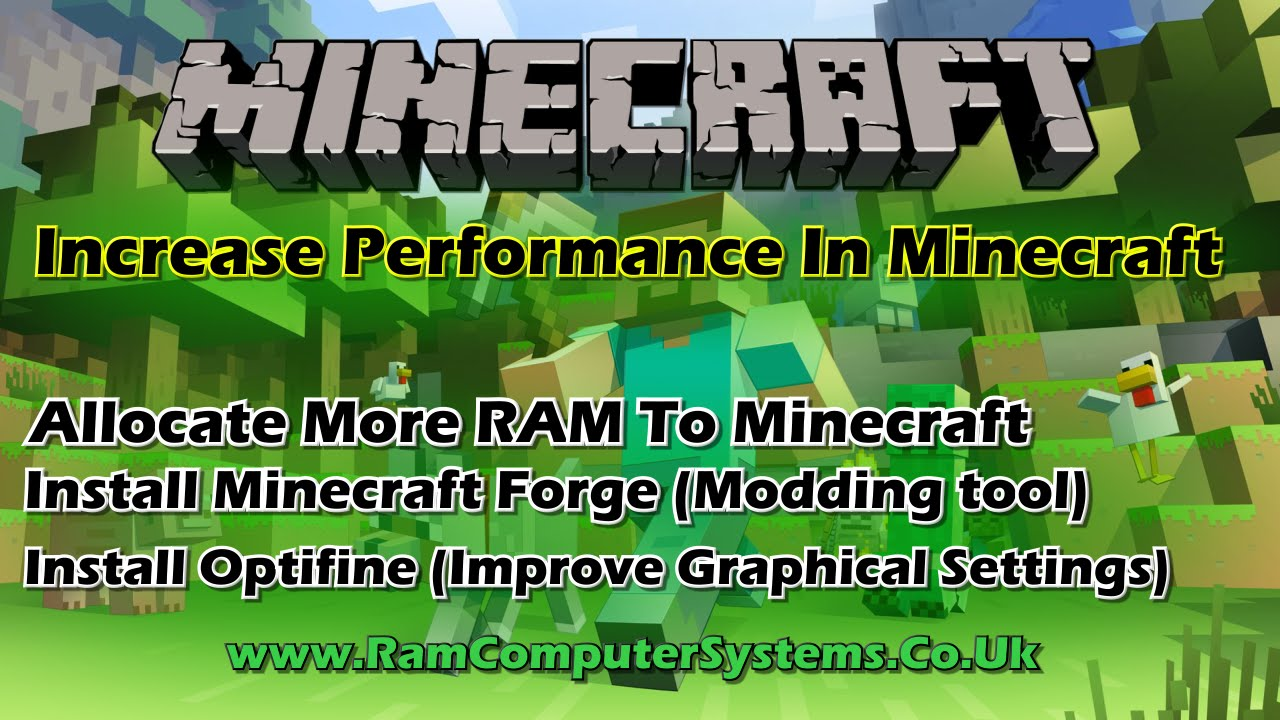 Improving Minecraft Performance - Optifine - Forge - Allocate More Memory