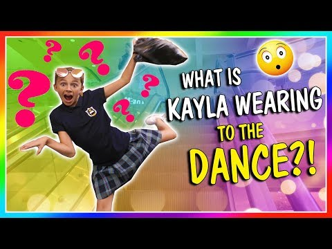 WHAT'S KAYLA WEARING TO HER 7TH GRADE DANCE? | We Are The Davises