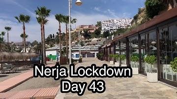 Coronavirus Lockdown Day 43 Nerja Burriana Beach