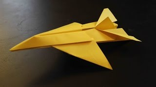 How To Make An Origami Paper Plane: Jet Fighter Tutorial