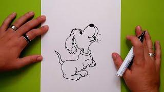 Como dibujar un perro paso a paso 30 | How to draw a dog 30
