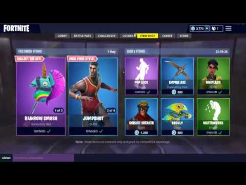 Fortnite Daily Item Shop Updated 07 10 Rainbow Smash Pickaxe And