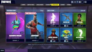"Fortnite Daily Item Shop UPDATED 07.10.! RAINBOW SMASH Pickaxe and ""LeBron"" Skin are back!"