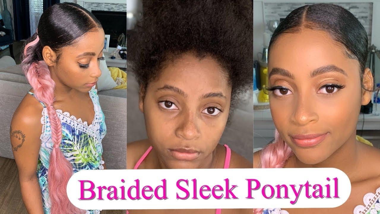 20th Birthday Hairstyle | Sleek Ponytail