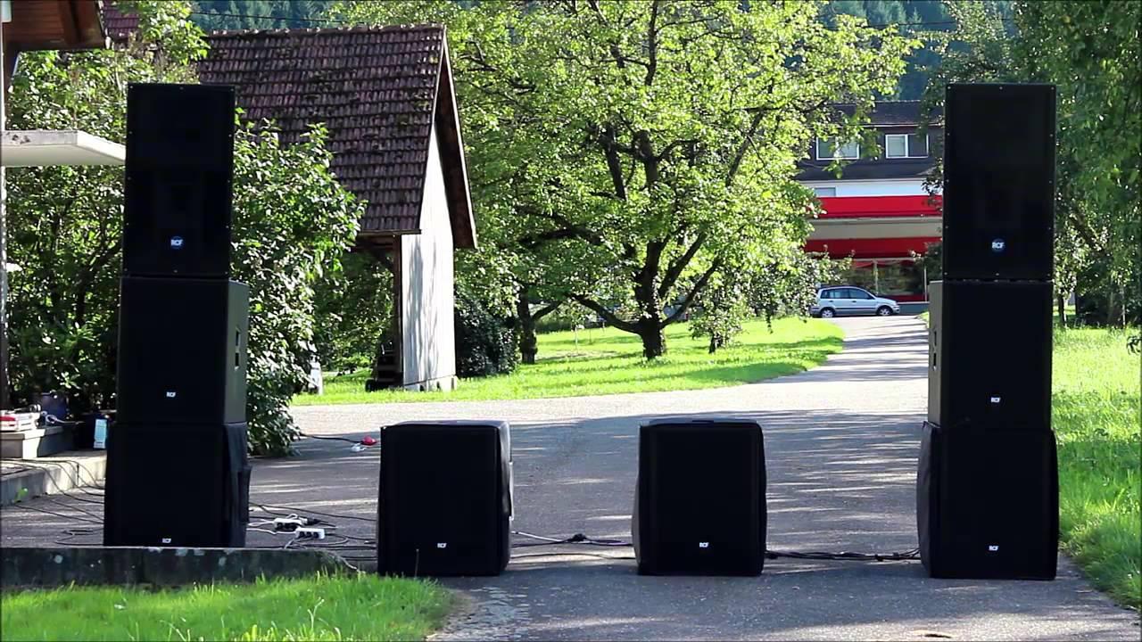 pa anlage soundcheck rcf youtube. Black Bedroom Furniture Sets. Home Design Ideas