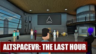 Good Bye, Altspace! The Last Hour Of AltspaceVR Live on Daydream District