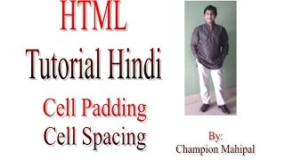 Learn Html Tutorial In Hindi 20 Table Property Cellpadding And Cellspacing With Example