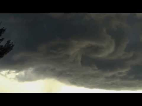 Funnel cloud formation over Cape Coral Florida